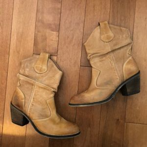 Slouchy Tan Cowboy Boots